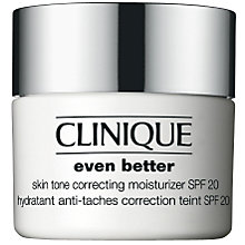 Buy Clinique Even Better Skin Tone Corrector Moisturiser SPF20, 50ml Online at johnlewis.com