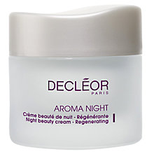 Buy Decléor Aroma Night Beauty Cream - Regenerating, 50ml Online at johnlewis.com