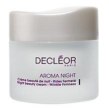 Buy Decléor Aroma Night Beauty Cream - Wrinkle Firmness, 50ml Online at johnlewis.com