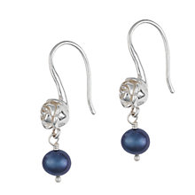 Buy Dower & Hall Silver White Rose and Pearl Drop Earrings Online at johnlewis.com