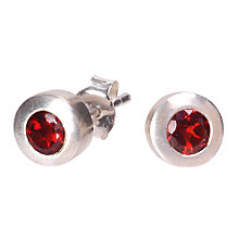 Buy Dower & Hall Silver and Garnet Round Stud Earrings Online at johnlewis.com