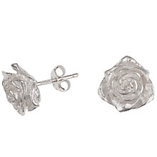 Buy Dower & Hall Silver White Rose Stud Earrings Online at johnlewis.com