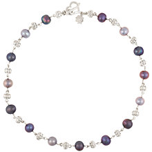 Buy Dower & Hall Silver Pearlicious Necklace Online at johnlewis.com