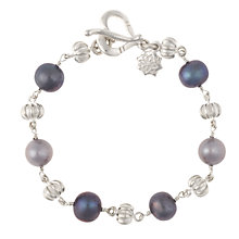 Buy Dower & Hall Silver Pearlicious Bracelet, Grey Online at johnlewis.com
