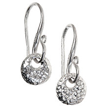 Buy Dower & Hall Silver Nomad Disc Drop Earrings Online at johnlewis.com