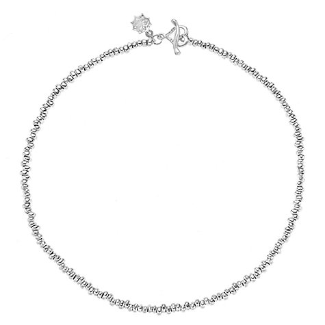 Buy Dower & Hall Sterling Silver Nomad Nugget Bead Necklace, Silver Online at johnlewis.com