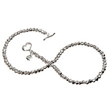Buy Dower & Hall Silver Chunky Nomad Nugget Bead Necklace Online at johnlewis.com