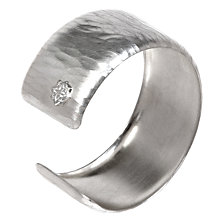 Buy Dower & Hall Handmade Solid Silver Straight Cuff with Curved Edges Online at johnlewis.com
