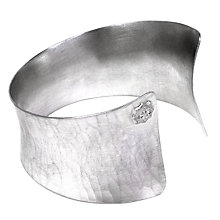 Buy Dower & Hall Handmade Solid Silver Tapering Cuff Online at johnlewis.com