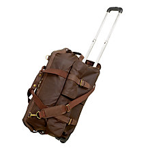 Buy Barbour Waxed Cotton 2-Wheel Holdall Online at johnlewis.com