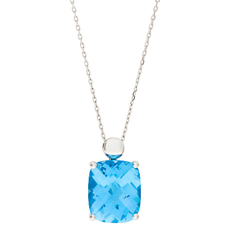 Buy London Road 9ct White Gold Topaz Pendant Necklace Online at johnlewis.com