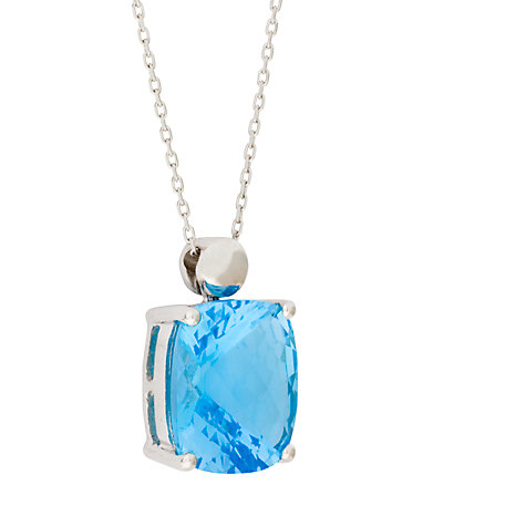 Buy London Road White Gold Topaz Pendant Necklace Online at johnlewis.com
