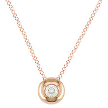 Buy London Road Rose Gold Diamond Slide Pendant Necklace Online at johnlewis.com