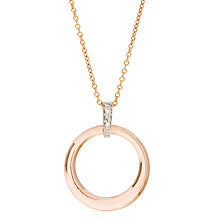 Buy London Road Rose Gold Diamond Circular Pendant Necklace Online at johnlewis.com