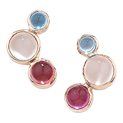 London Road 9ct Rose Gold Multi Earrings
