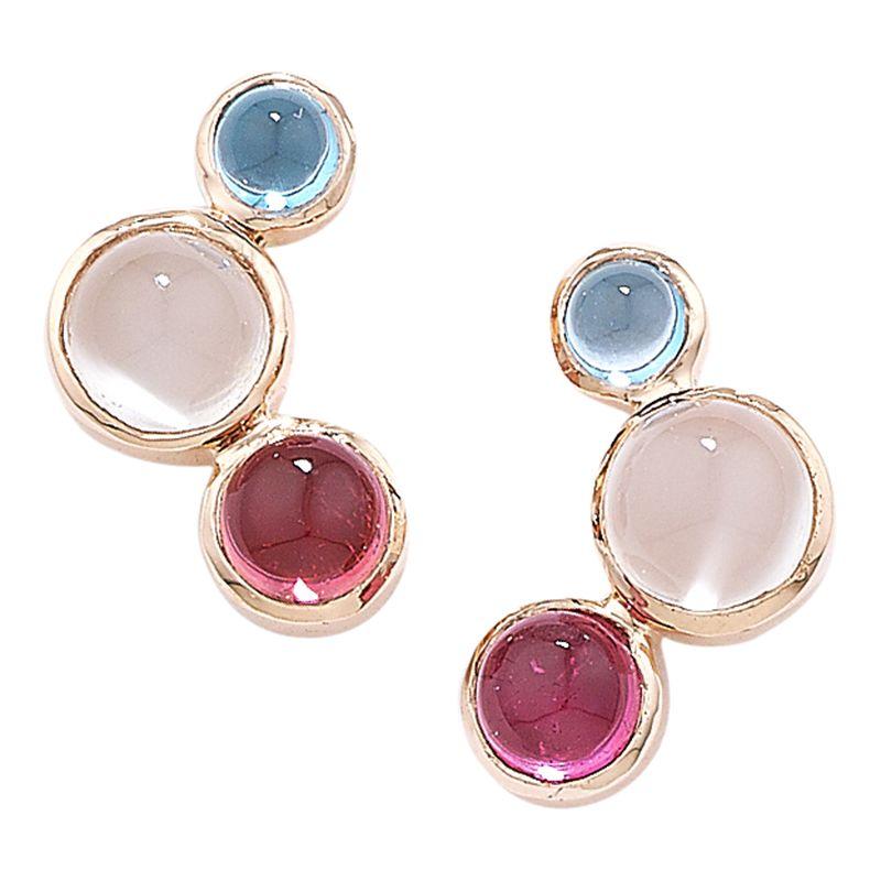 9 Carat Rose Gold Multi Earrings 58012