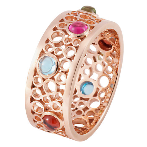 Buy London Road 9 Carat Rose Gold Multi Ring Online at johnlewis.com