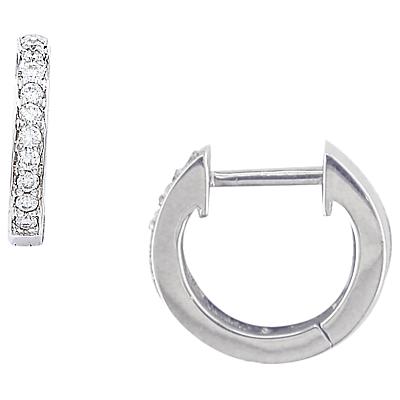 London Road 9ct Gold Diamond Demi-Hoop Earrings