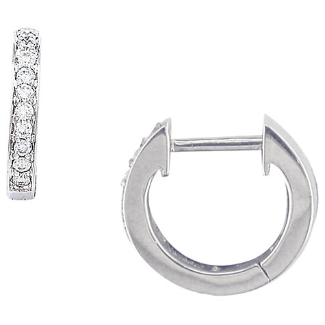 Buy London Road 9ct Gold Diamond Demi-Hoop Earrings Online at johnlewis.com