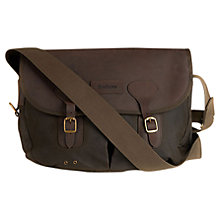 Buy Barbour Waxed Cotton Bag, Brown Online at johnlewis.com
