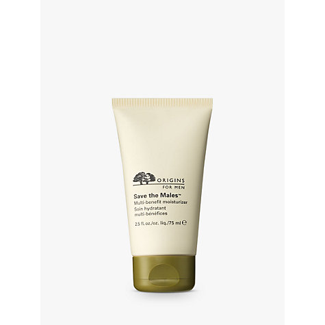 Buy Origins Save the Males™ Multi-Benefit Moisturiser, 75ml Online at johnlewis.com
