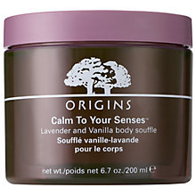 Buy Origins Calm To Your Senses™ Lavender And Vanilla Body Souffle, 200ml Online at johnlewis.com
