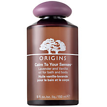 Buy Origins Calm To Your Senses™ Lavender And Vanilla Oil For Bath & Body Online at johnlewis.com