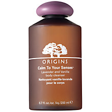 Buy Origins Calm To Your Senses™ Lavender And Vanilla Body Cleanser, 200ml Online at johnlewis.com