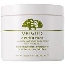 Buy Origins A Perfect World™ Intensely Hydrating Body Cream With White Tea, 200ml Online at johnlewis.com
