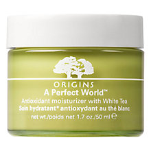 Buy Origins A Perfect World™ Antioxidant Moisturiser With White Tea, 50ml Online at johnlewis.com