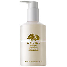 Buy Origins Ginger Hand Lotion, 200ml Online at johnlewis.com
