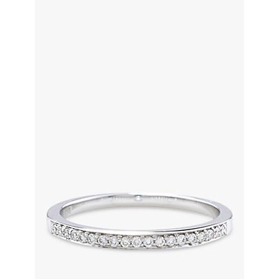 London Road 18ct White Gold Diamond Eternity Ring