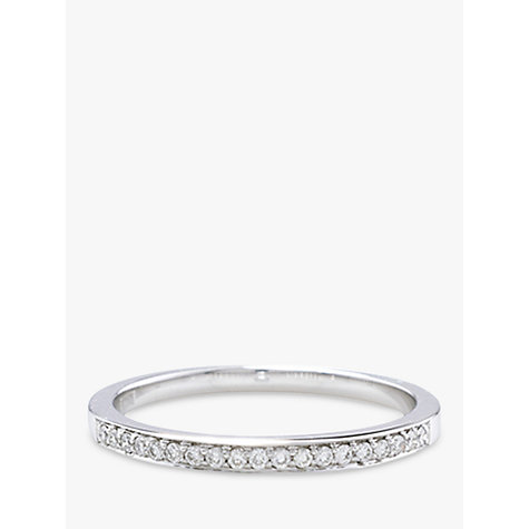 Buy London Road White Gold Diamond Hoop Earrings Online at johnlewis.com