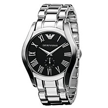 Buy Emporio Armani AR0680 Men's Valente Stainless Steel Bracelet Watch, Black Online at johnlewis.com
