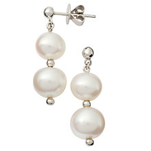 Buy London Road 9ct Gold Burlington Cultured Freshwater Pearl Drop Earrings Online at johnlewis.com