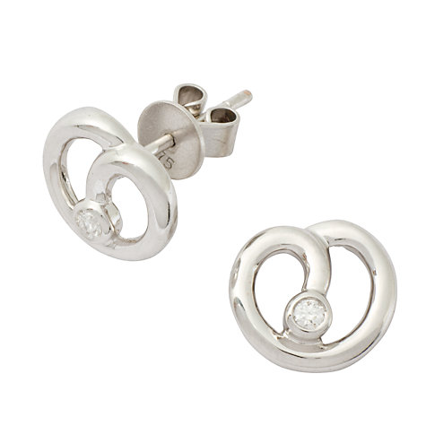 Buy London Road White Gold Diamond Earrings Online at johnlewis.com