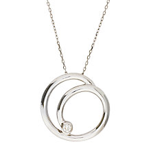 Buy London Road 9ct White Gold Diamond Circle Pendant Necklace Online at johnlewis.com