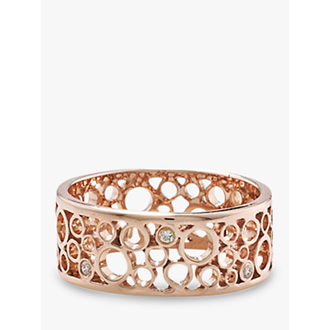 Buy London Road 9ct Rose Gold Diamond Ring, Rose Gold Online at johnlewis.com