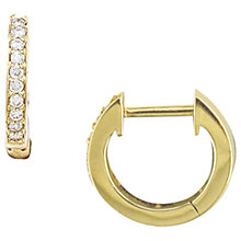 Buy London Road Gold Diamond Hoop Earrings Online at johnlewis.com