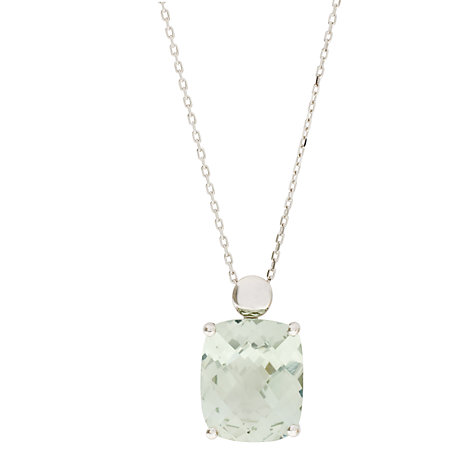 Buy London Road 9ct White Gold Amethyst Pendant Necklace, Green Online at johnlewis.com