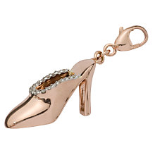 Buy London Road Rose Gold Diamond Shoe Charm Online at johnlewis.com