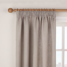Buy John Lewis Plain Linen Pencil Pleat Curtains, Natural Online at johnlewis.com