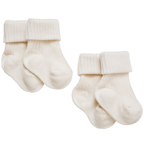 Buy John Lewis Baby Organic Cotton Socks, Pack of 2 Online at johnlewis.com