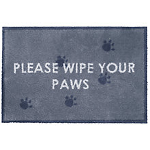 Buy Turtle Mat 'Please Wipe Your Paws' Pet Mat, L85xW60cm Online at johnlewis.com