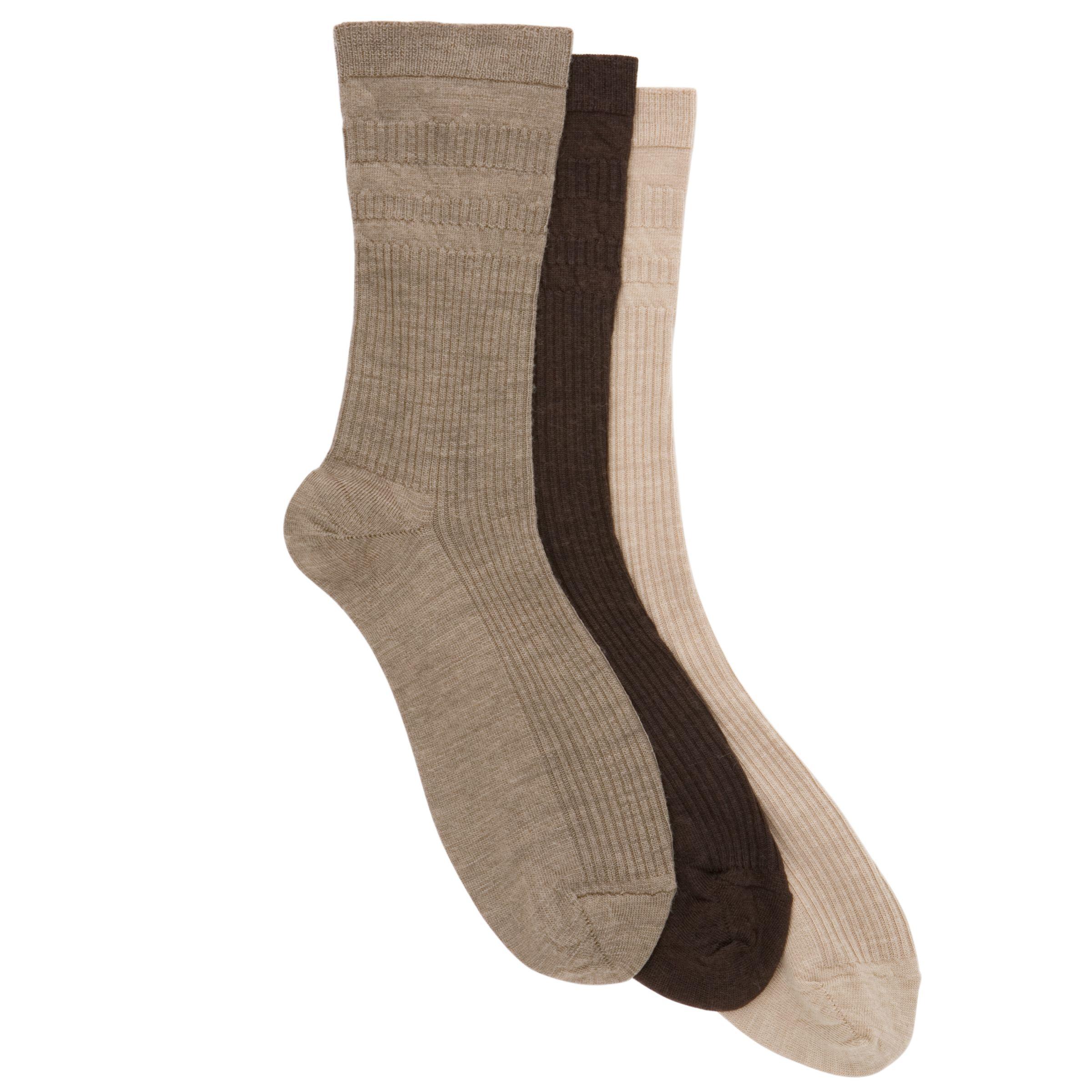 HJ Hall HJ Hall Wool Soft Top Socks, Pack of 3, One Size