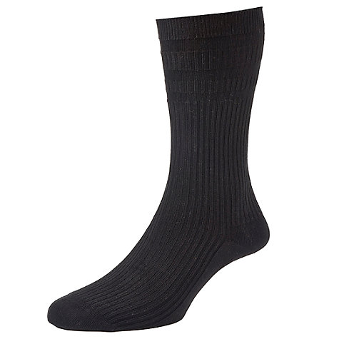 Buy HJ Hall Cushion Sole Socks, One Size, Black Online at johnlewis.com