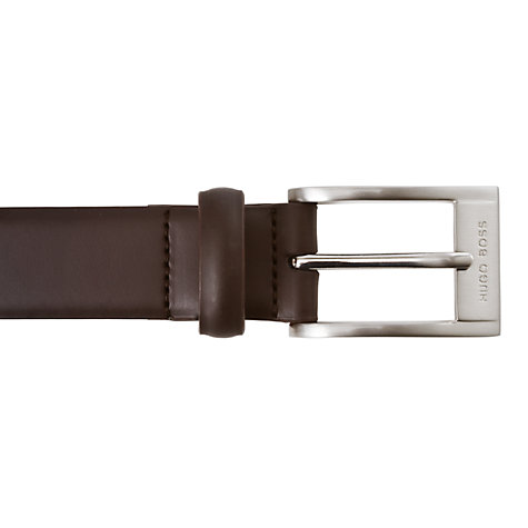 Buy BOSS Brandon Leather Belt, Brown Online at johnlewis.com