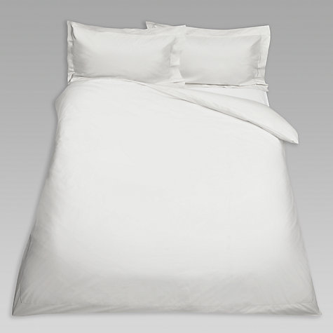 Buy John Lewis Exquisite Genuisa Cotton Flat Sheets, White Online at johnlewis.com