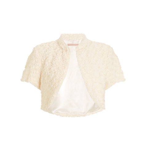 Buy John Lewis Faux Fur Capelet, Cream Online at johnlewis.com