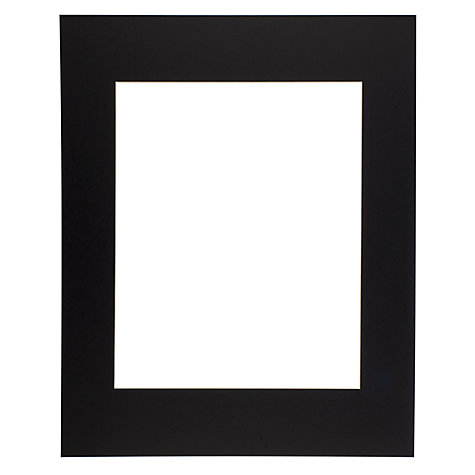 Buy John Lewis Picture Mounts Range, Black Online at johnlewis.com